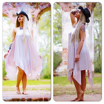 S Boho Blush Dress, womens spring dress, Boho Dress, Bohemian Dresses, Romantic Festival Sundress Dress, Party Dresses, True Rebel Clothing