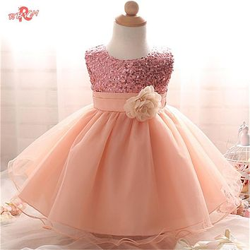 Toddler Girl Dresses Fashion Summer Girl Dress Sleeveless Kids 0-24 Months Clothes Birthday Party Dresses Tutu Baptism Clothes