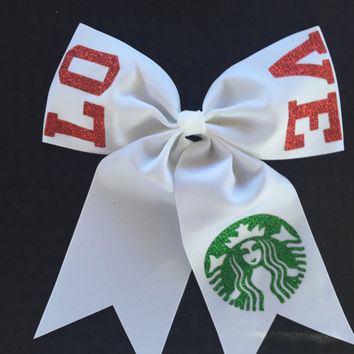 LOVE Starbucks Hair Bow