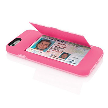 The Hot Pink Credit Card STOWAWAY Case for iPhone 6/6s