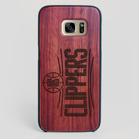 Los angeles Clippers Galaxy S7 Edge Case - All Wood Everything