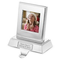 Personalized Photo Stocking Holder , Add Your Message