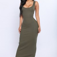 Mulberry Street Maxi Dress - Olive