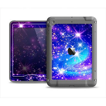 The Glowing Pink & Blue Starry Orbit Apple iPad Mini LifeProof Nuud Case Skin Set