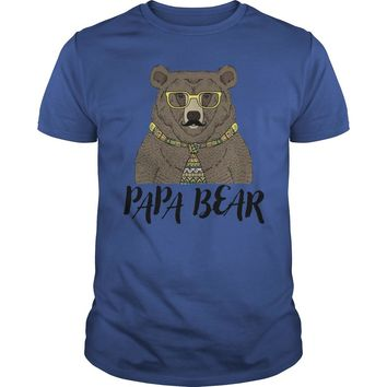 Papa bear father's day shirt Premium Fitted Guys Tee