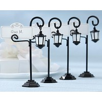 """""""Bourbon Street"""" Streetlight Place Card Holder with Coordinating Place Cards (Set of 4)"""