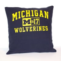 Michigan Wolverines Pillow