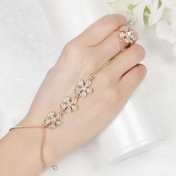 Hand Finger Bracelets & Bangles for Women Fashion Charms Harness