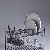 Buy 2 Tier Black Metal Dish Drainer from Next Germany
