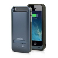 Anker® 2400mAh MFI Apple Certified Premium Rechargeable Extended Battery Case for iPhone 5s, 5 [18-Month Warranty]