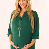 Style Me Pretty Maternity Top in Green