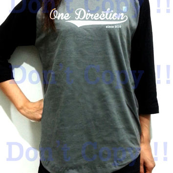 One Direction Since 2010 1D Old School Unisex Men Women Gray Long Sleeve Baseball Shirt Tshirt Jersey