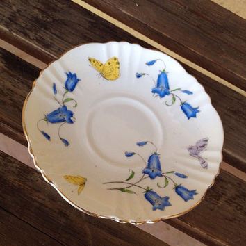 Royal Albert Butterfly Saucer Plate - vintage Royal Albert small plate