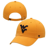West Virginia Mountaineers '47 Brand Clean Up Adjustable Hat - Gold