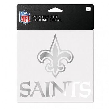 New Orleans Saints Decal 6x6 Perfect Cut Chrome