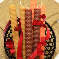 Candle Fall Autumn Decor 6 Fall Candles Autumn Decorations Rustic Fall Decor Home Fall Decorations Beeswax Candle Tapers Brown Orange Tan