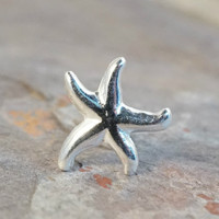 Silver Starfish Cartilage or Tragus Earring