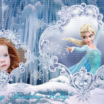 Personalized Edible Frosting Icing Fondant Sheet FROZEN ANNA ELSA Personalized Photo Picture Custom Fresh