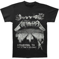 Metallica Men's  Damage On Tour T-shirt Black