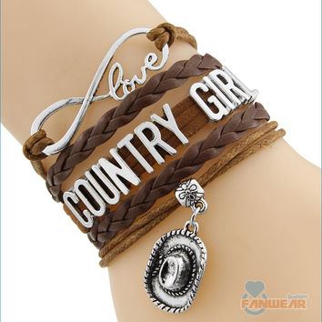 COUNTRY GIRL Infinity Love Bracelet