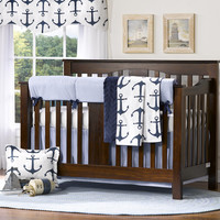 Nautical 4-pc. Crib Bedding Set with Rail Cover