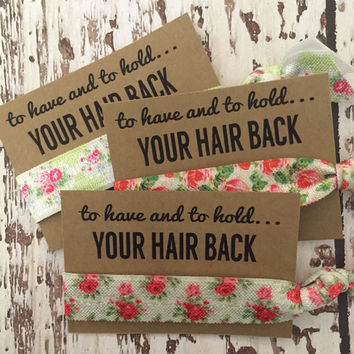 Bachelorette Hair Tie Party Favors