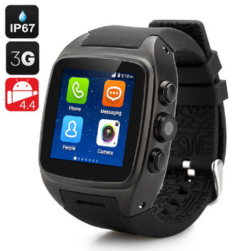 iMacwear SPARTA M7 Smart Watch Phone - IP67, 1.54 Inch Touch Screen, Android 4.4 OS, Dual Core CPU, 3G