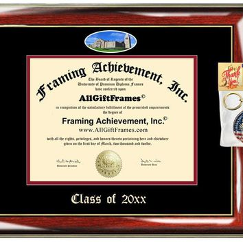 AllGiftFrames Cornell Custom Diploma Frame Embossed Cornell University Best Graduation Degree Frame Double Mat Campus Fisheye Picture Frame Cheap Degree Certificate Holder Graduate Gift