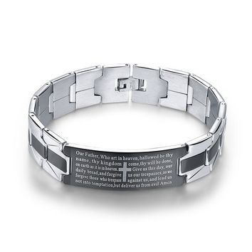 Our Father Mens Steel Bracelet
