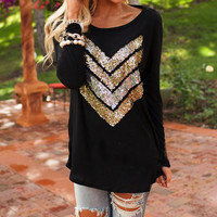 FASHION SEQUINED T-SHIRT