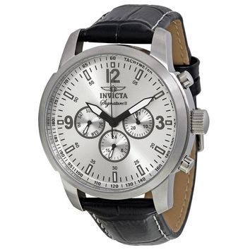Invicta Signature II Silver Dial Quartz Stainless Steel Mens Watch 7338