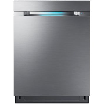 Samsung 24 in. Top Control Dishwasher in Stainless Steel with Stainless Steel Tub and WaterWall Wash System WIFI-DW80M9960US - The Home Depot