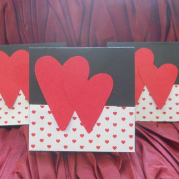 Kid's Mini Card Set- Set of 10 mini Cards - Boy's Valentine's Day Card Set