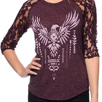 Empyre Richland Blackberry Purple Lace Top