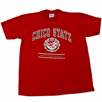 Vintage 90s Chico State University Shirt Made in USA Mens Size Medium