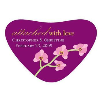 Mini Orchid Heart Container Stickers (Pack of 1)