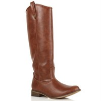 SALE-Brown Riding Boot