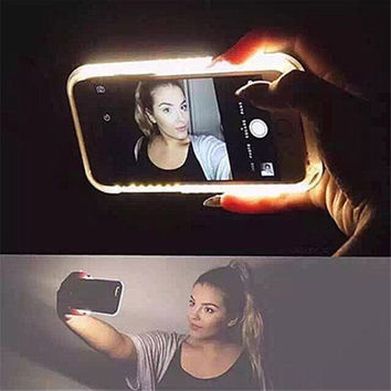 Fashion New Luxury LED Light Selfie Phone Case for iPhone 6 6S 6 Plus 6splus 4.7'' 5.5'' Luminous Phone Cover