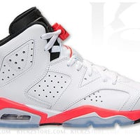 Air Jordan Big Kid's 6 VI GS White Infrared