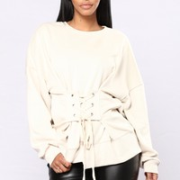 Straight Laced Sweater - Natural