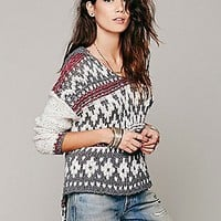 Fairisle Hooded Pullover