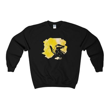 Hufflepuff Watercolor Sweatshirt