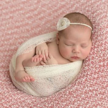 50*160cm Newborn Photography Wraps Stretch Soft Rayon Photo shooting Blankets Newborn Swaddle Baby Photography Props