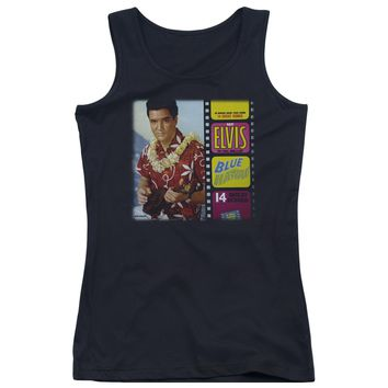 Elvis - Blue Hawaii Album Juniors Tank Top