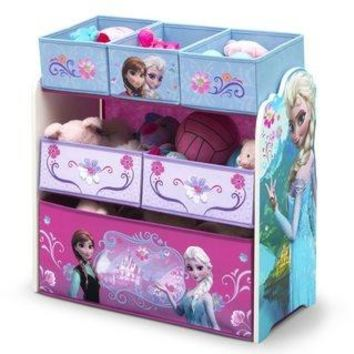 Disney Frozen Multi-Bin Toy Organizer Kids Room Storage and Furniture