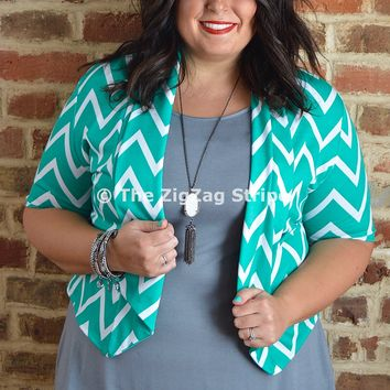 Jade Chevron April Blazer