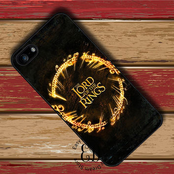 hobbit & the lord of the rings case for iphone 4 5s SE 5c 6s 7 Plus iPod 5 6 Samsung s3 s4 s5 mini s6 s7 s8 edge plus Note 3 4 5