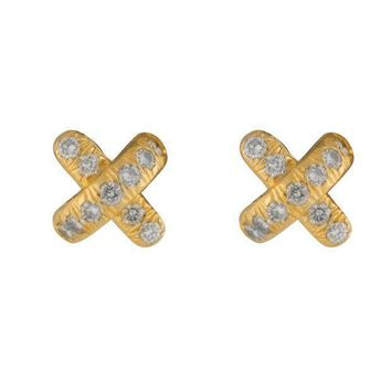 Tiffany & Co. Diamond X Stud Earrings