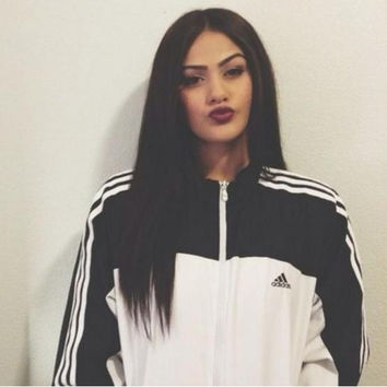 """Adidas"" Fashion Zipper Cardigan Sweatshirt Jacket Coat Windbreaker Sportswear"