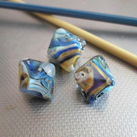Lampwork Beads, Handmade Glass Beads, Chrystal Jewelry Supplies, Handmade Supplies for lampwork Jewelry